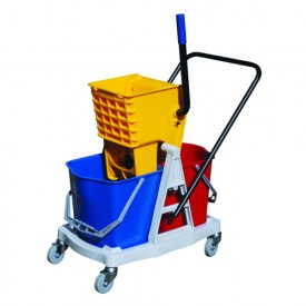 50L Double Bucket & Wringer - Plastic