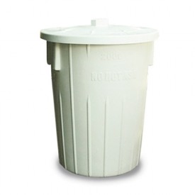 85L Refuse Dustbin White